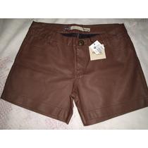 Shorts Em Couro Ecologico Tamanho 40