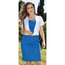 Vestido Moda Evangélica - Com Bolero - 38/42