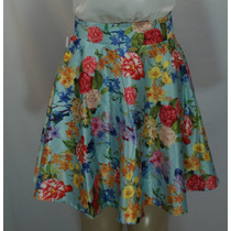 Saia Social Mini Godê Floral Casual Ou Formal C