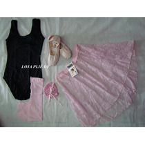Kit Roupa Uniforme Figurino Ballet Adulto No Df
