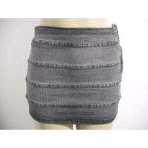 Mini Saia Jeans Com Strech, Triton, Tam 38 Usado Bom Estado