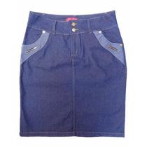 Saia Jeans Plus Size (48 Ao 58) - Linda Evangélica