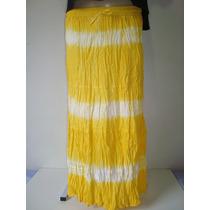 Saia Longa 100% Algodão Tie Dye Amarela Indiana 4