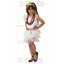 Fantasia Baiana Roupa De Baianinha Infantil Tam. 3 A 8 Anos
