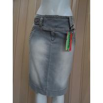 Saia Evangélica Jeans 42 Tuannan C/ Pedrarias E Stretch 2106