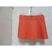 Saia Shorts Laranja - Tecido - Rodada Babado - Shorts Saia