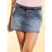 Mini Saia Jeans Lote Com 10 Peças Impecáveis Tamanhos Variad