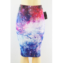 Material Girl Scuba Pencil Skirt Multi-color