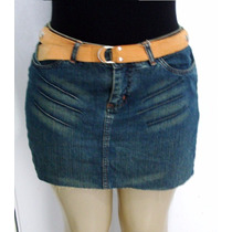 Saia Jeans Feminina Marca Tuannan Tam.40 S/strech Lu
