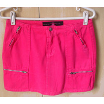 Uma Graça Mini Saia Jeans Planet Girls Rosa Chiclete !!!!