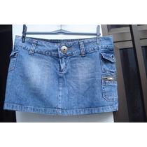 Mini Saia Em Jeans Da Hand Book Tam P