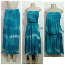Saia Longa Azul Tye Dye Multiuso