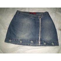 Mine Saia Jeans Blue Steel Tamanho 38