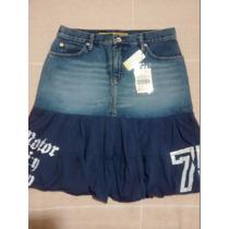 Linda Saia Jeans Com Babado Triton, Original,ótimo Preço!