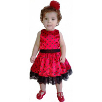 Vestido Infantil Joaninha ( Frete Grátis )