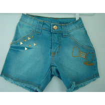 Lilica Ripilica - Shorts Jeans. Tamanho 02.