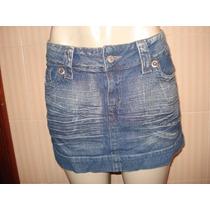 Mini Saia Em Jeans Da Hand Book Tam M