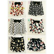 Shorts Saias Floral Plissada Cintura Alta ,confortavel