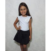 Conjunto Infantil Verão Menina Blusa/saiashorts Frete Gratis