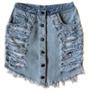 Saia Destroyed -hot Pant -cintura Alta