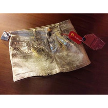 Mini Saia Python Resinada Animal Print Patoge T40 Original