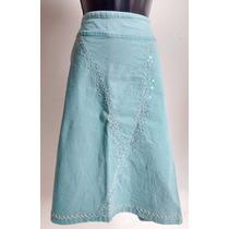 Saia Azul Claro Plus Size