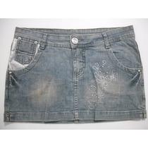 Mini Saia Jeans Curta Tam 40-42 Ótimo Estado
