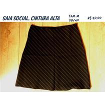 Saia Social Risca De Giz Tam. M 38/40