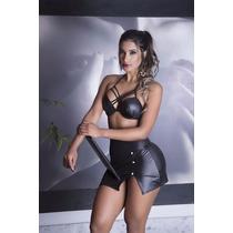 Conjunto Sensual Saia + Cropped Dia Dos Namorados Secretária