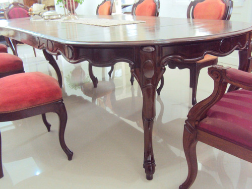Conjunto De Sala De Jantar Luis Xv ~ Sala De Jantar Luis Xvantiga 8 Cadeiras E Buffet  R$ 16000,00 no