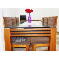 Mesa De Jantar Com 06 Cadeiras12x Sem Juros
