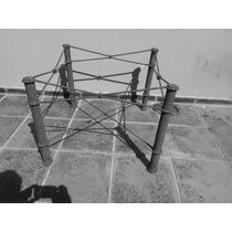 Base De Mesa Em Ferro Med 57x57x77 Atura. S Vidro .