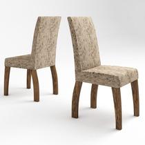 Conjunto 2 Cadeiras Viero Fenix Avelã/juta