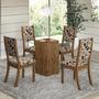 Conjunto Para Sala De Jantar Mesa E 4 Cadeiras Viero Via