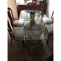 Mesa De Jantar Vidro Com 8 Cadeiras Espanholas