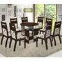 Conjunto Para Sala De Jantar Mesa E 8 Cadeiras Viero Milão