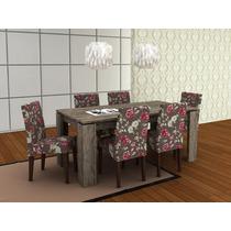 Conjunto De Jantar Mesa Mj2103 + 8 Cadeiras Ca2702 Ammo Mobi