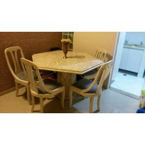 Mesa Inteira De Granito Com 4 Cadeiras