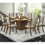 Conjunto Para Sala De Jantar Mesa E 8 Cadeiras Viero Lara