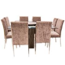 Conjunto De Mesa Com 8 Cadeiras Coral- Somopar