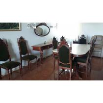 Sala Jantar Mármore 8 Cadeiras Aparador Espelho Buffet