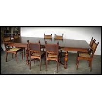 Mesa De Jantar Com 8 Cadeiras - Império