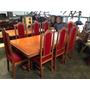 Mesa De Jantar Antiga Cerejeira Com Oito Cadeiras