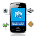 Celular Samsung Galaxy Y Duos S6102 Preto Orange