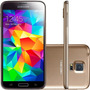 Smartphone Samsung Galaxy S5 Duos G900m 16gb Desblo. Dourado
