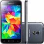 Samsung S5 Mini Duos Preto G800 16gb 3g Cam 8mp Nf- Vitrine