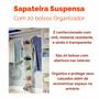 Sapateira Suspensa Com 20 Bolsos Para Guarda Roupas E Closet