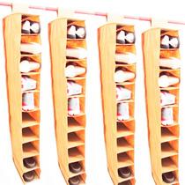 Kit 4 Sapateiras 10 Nichos Suspensa Para Closet Guarda Roupa