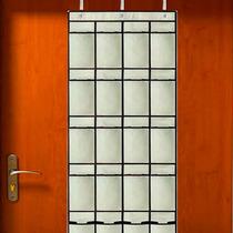 Organizador Sapateira Luxo De Porta 20 Divisões Com Ganchos