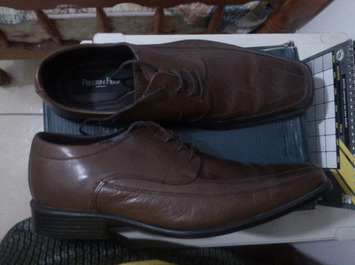 Sapato De Couro 41 Br Preston Field Confort Gel